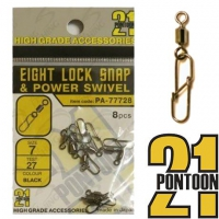 Pontoon21 Eight Lock Snap & Power Swivel