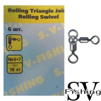 SV Fishing Rolling Triangle Joint Rolling Swivel